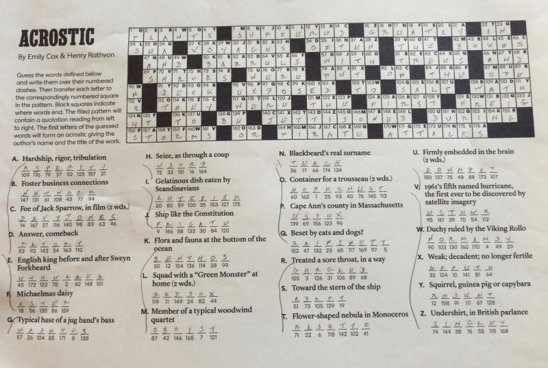 NY Times Crossword 24-7-2016