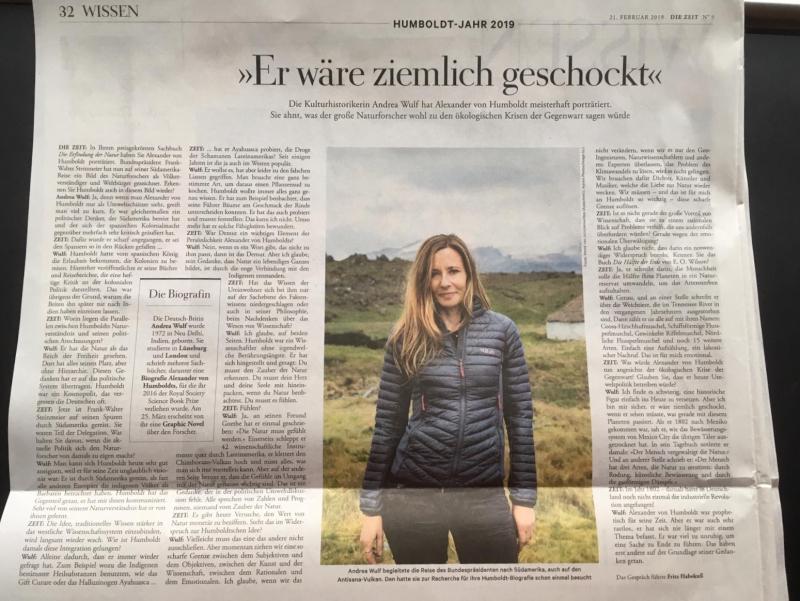 Zeit Interview 21 Feb 2019